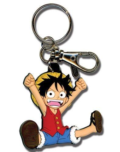 One Piece Chibi Luffy PVC Keychain