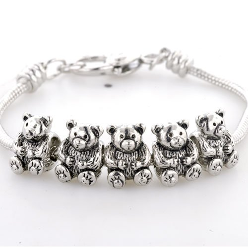 Pugster Lovely Bear Baby Beads Fits Pandora Charms (not Include Bracelet)