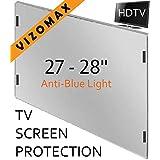 27 - 28 inch Anti-blue Light Vizomax Monitor/TV Screen Protector for LCD, LED, Computer & Plasma HDTV (Color: Blue, Tamaño: 28 inch)