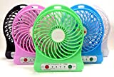 Tfpro Portable Wireless Rechargeable Mini Fan With Light , USB Charging Port (Multicolor)