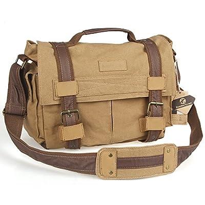 Koolertron Big Size DSLR SLR Camera Canvas shoulder bag for Sony Canon Nikon Olympus
