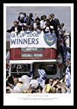 Portsmouth 2008 FA Cup Open Top Bus Celebrations ramed Photo Memorabilia