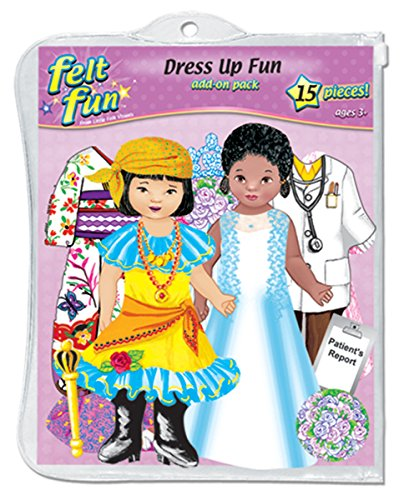 Dress-up Fun Felt Figures for Flannelboard - 1