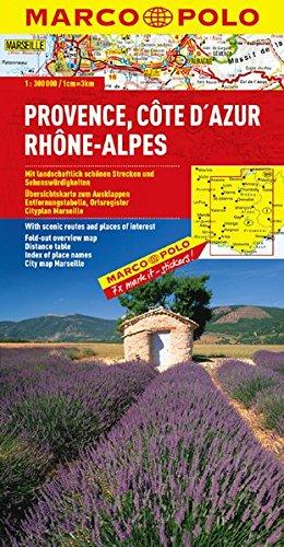 Frankreich. 1:300000: MARCO POLO Regionalkarte Provence/Côte d´Azur/Rhône-Alpes: TEIL 8 (Ne O Ca Te compare prices)