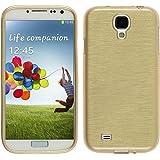 Silikon Hülle für Samsung Galaxy S4 - brushed gold - Cover PhoneNatic Schutzhülle Case