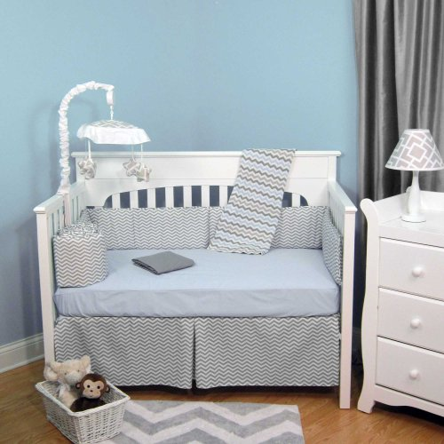 Gray Chevron Baby Bedding 5065 front