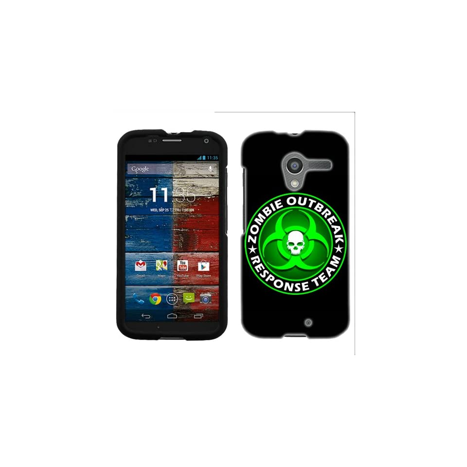 Motorola Moto X Zombie OutBreak Response Team Green on Black Phone Case Cover Cell Phones & Accessories