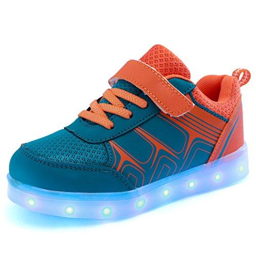 DoGeek-Zapatos-Deportivos-Para-Nios-Nias-7-Color-USB-Carga-LED-Luz-Glow-Luminosos-Light-Up-USB-Velcro-Flashing-Sneakers-Elegir-1-tamao-ms-grande