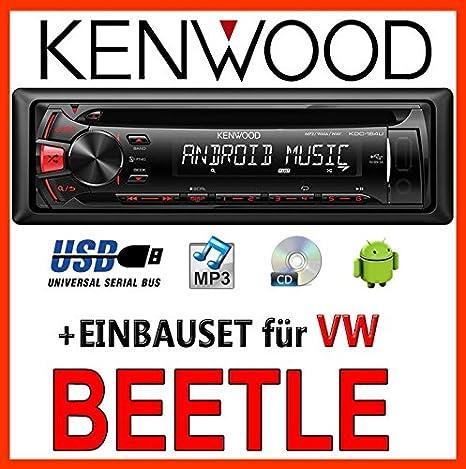 Volkswagen beetle 5C kenwood-kDC - 164 uR autoradio cD/mP3/uSB avec kit de montage
