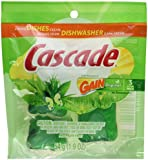 Cascade Actionpacs Dishwasher Detergent With The Scent Of Gain 60 Count