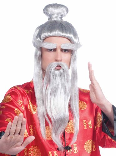 Martial Arts Master Costume Wig - Adult Std.
