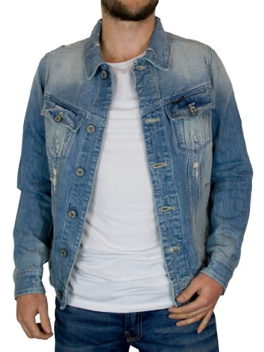 Denim Jackets G-Star - Light Aged Denim Slim Fit Denim ...