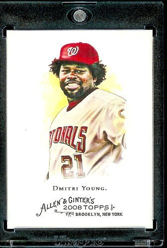 2008 Topps Allen and Ginter # 320 Dmitri Young SP - Short Print ( Washington Nationals ) MLB Baseball Card in Protective Display Case! at Amazon.com