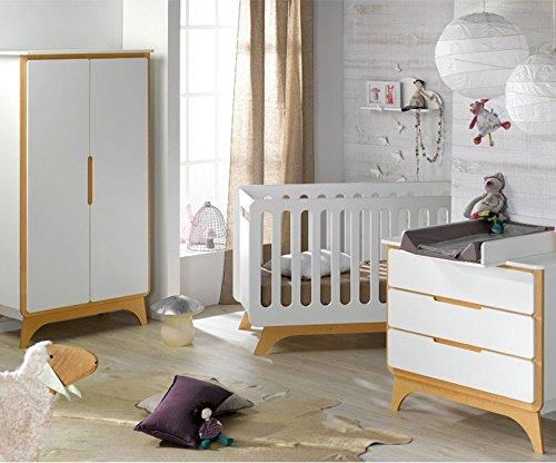 Babyzimmer komplett Bonheur weiß Sand