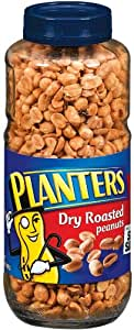 Planters Peanuts, Dry Roasted, 24 Ounce Jars (Pack of 2)