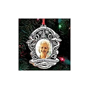 Merry Christmas from Heaven Photo Ornament - Loved Ones Tree Decoration