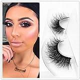 Mink 3D Lashes Dramatic Makeup High Quality Strip Eyelashes 100% Siberian Fur Fake Eyelashes Hand-made False Eyelashes 1 Pair Package Miss Kiss (3D04)