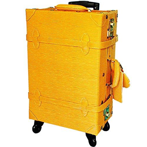 キャリーケース HANAism エピ調シボ TSAロック トランクキャリー Lサイズ 21インチ 4輪 (45/エピ・キャメル)