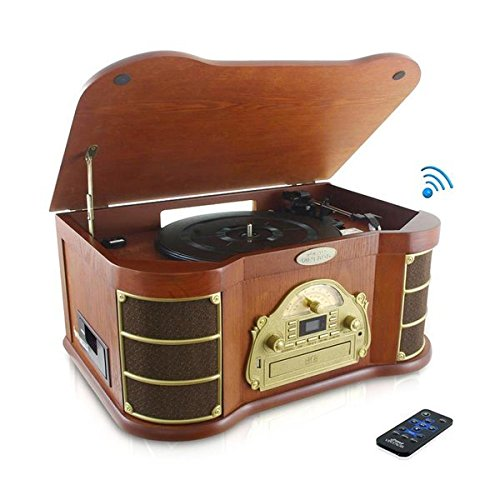 pyle-ptcd54ub-bluetooth-vintage-classic-style-turntable-speaker-system-built-in-cd-cassette-players-