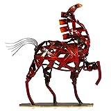 TOOATRS Metall Geflochtenes Pferd Deko Skulptur Dekofigur zum Dekorieren
