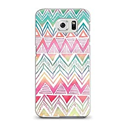 Hard Plastic Case for Samsung S6, CasesByLorraine Colorful Aztec Tribal Pattern PC Case Plastic Cover for Samsung Galaxy S6 (L16-3)