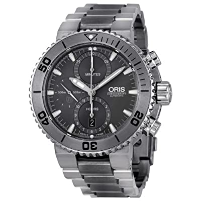 Oris Aquia Chronograph Grey Dial Titanium Mens Watch 01 674 7655 7253-07 8 26 75peb from Oris
