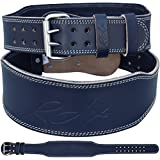 """RDX Cow Hide Leather Gym 4"""" Weight Lifting Belt Back Training Support Fitness Exercise Bodybuilding"""