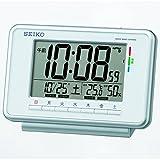 SEIKO CLOCK (セイコークロック) デジタル ウィークリーアラーム 快適度表示 温度表示 湿度表示電波時計  (白) SQ775W SQ775W