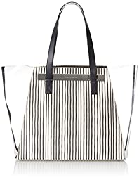 Vince Camuto Jace Travel Tote, Black Stripe, One Size