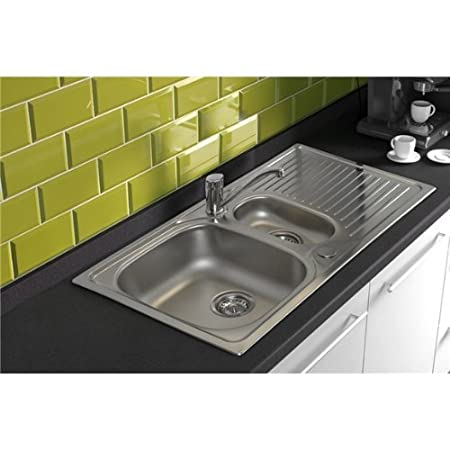 Astracast HZ0965HV 1.5 Bowl Stainless Steel Kitchen Sink-Reversible Drainer by Astracast