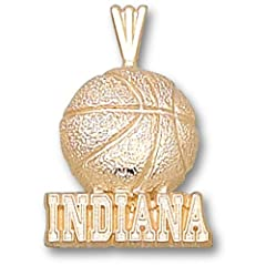 Indiana University Indiana Basketball - 14K Gold by Logo Art