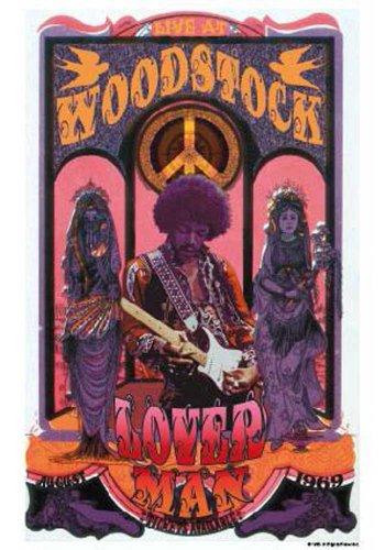 """Empire 555519 Poster musicale rock classico """"Jimi Hendrix, Woodstock"""" 68 x 98 cm"""