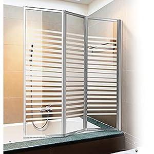 Parete vasca box doccia cristallo serigrafato h140x130 for Leroy merlin parete vasca bagno