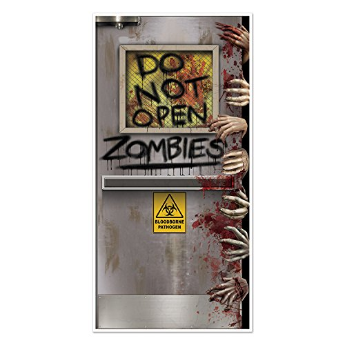 zombie lab door cover - perfect for an adult Halloween party or Walking Dead party