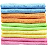 "Sinland wholesale Household tools Multi-purpose Cleaning Cloths Microfiber Kitchen Cloth With Strips 12""x12"" 10 Pack"
