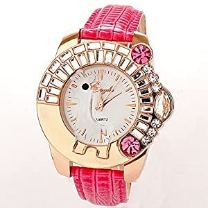 Amazon.com: Luxury Big Diamond Rhinestone fashion watches women
