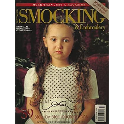 Australian Smocking and Embroidery Magazine Issue 72 coupon codes 2014
