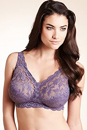 Total Support Floral Lace Non-Wired Bra
