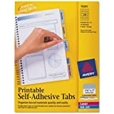 Avery Printable Repositionable Plastic Tabs, 1.25 Inch, Assorted, 96 per pack (16281)