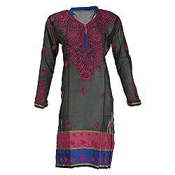 AKS Lucknow Women's Silk Cotton Regular Fit Kurti