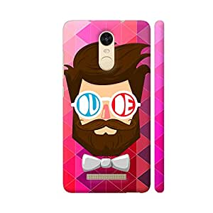 Colorpur Dude With Beard Designer Mobile Phone Case Back Cover For Xiaomi Redmi Note 3 | Artist: The Artism