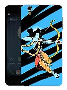 "Humor Gang Ram Abstract Art Hindu God Printed Designer Mobile Back Cover For ""Yu Yureka Plus"" (3D, Matte, Premium Quality Snap On Case)"