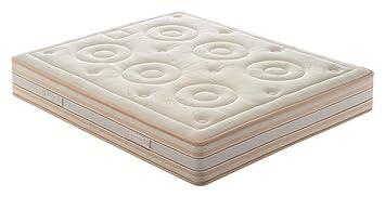 Nicoflex Memory Soy Materasso, Poliuretano/Cotone, Beige, Esclusiva Amazon, 190x160x23 cm