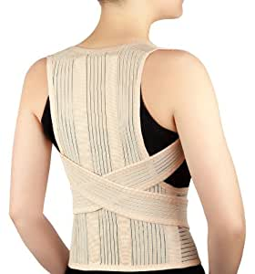 DELUXE FULL BACK POSTURE CORRECTIVE BRACE, Latex Free, Size Small