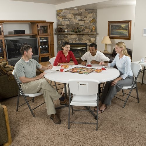 Lifetime 25402 Commercial Round Fold In Half Table 5 Feet