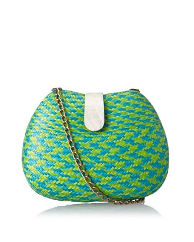 KAYU Women's Rounded Shell Clasp Clutch, Greencheck