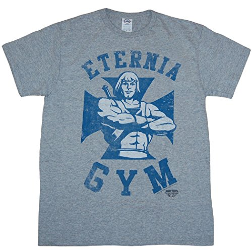 He-Man Eternia Gym T-Shirt-Large - Athletic Gray - S to XXL