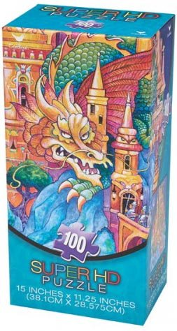 Super HD 100-piece Dragon & Castle Jigsaw Puzzle