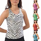Pizzazz Black White Zebra Racer Back Top Girl 10-12