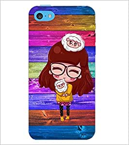 PrintDhaba Specy Girl D-4662 Back Case Cover for APPLE IPHONE 5C (Multi-Coloured)